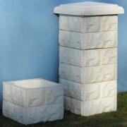 ČELNI STUP D 13 ( kocke umjetni kamen)